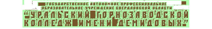 "ГАПОУ СО ""УрГЗК"" им. Демидовых"
